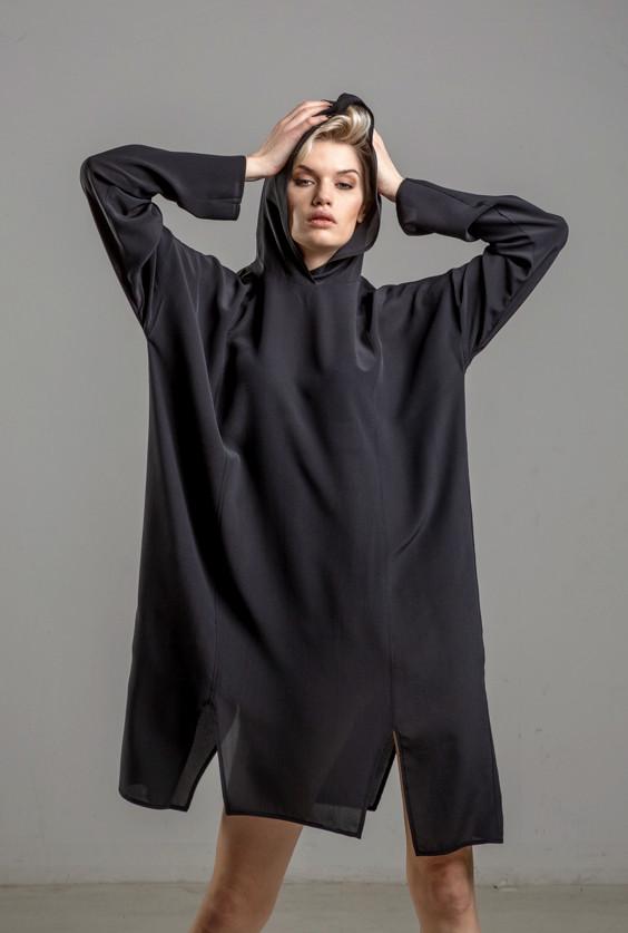 delcane sukienka jedwabna TOKYO black her przod2m