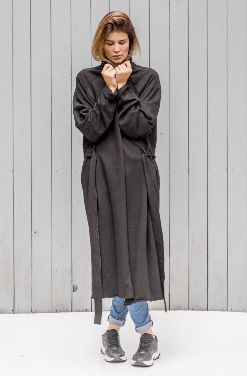 lekki płaszczyk kopenhaga black front 1