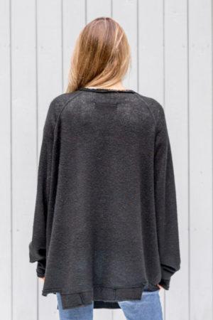 czarny sweterek Kopenhaga Gray tył zbliżenie