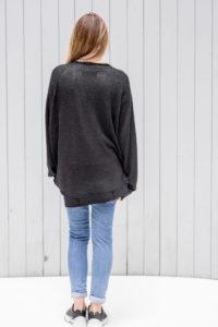 czarny sweterek Kopenhaga Gray tył full