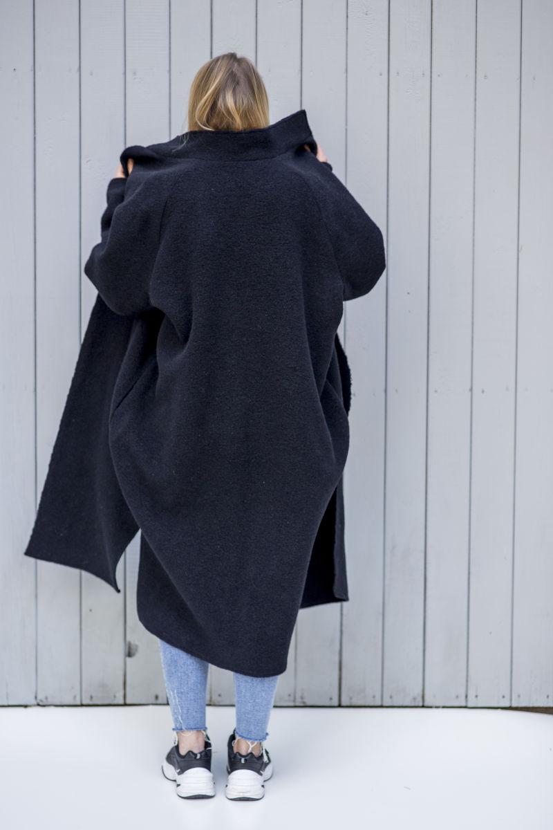Płaszcz wełniany Vienna Pure Black