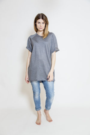 szary_t-shirt_delCane_widok_przód
