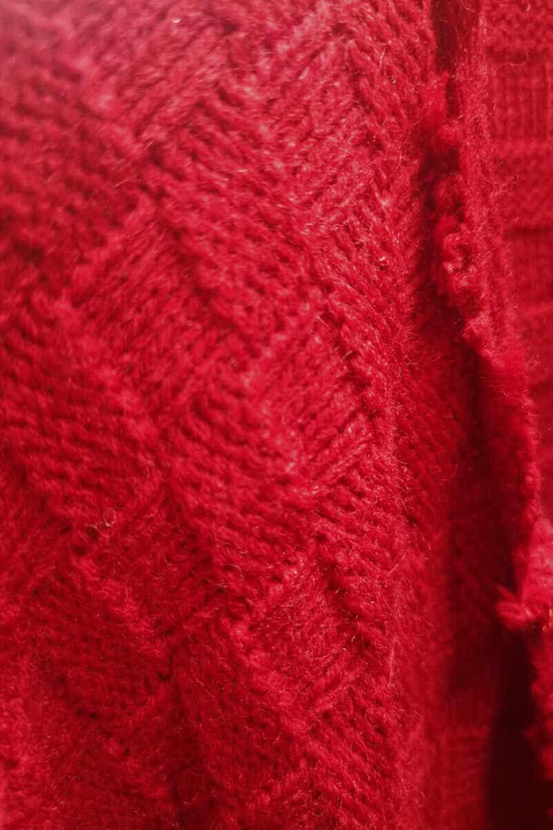 zbliżenie tkaniny czerwona kratka