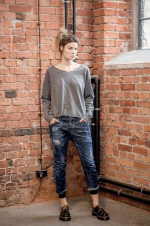 krótka-bluzka-amsyterdam-Gray-przód2