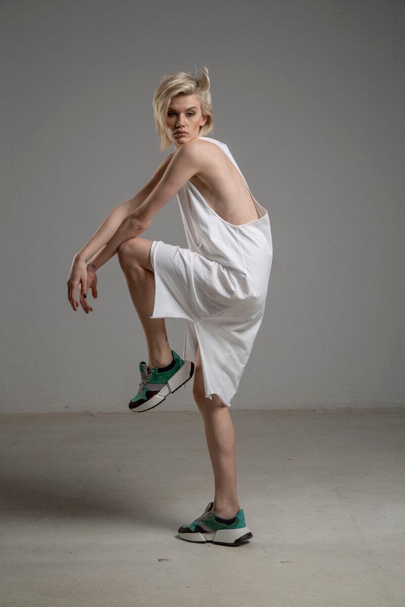 biala bokserka delCane TOKYO white przod 1m