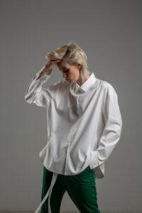 biala koszula delcane grunge TOKYO white przod 2m