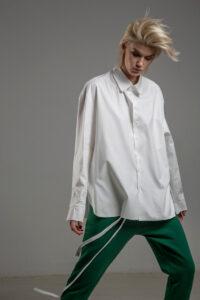 biala koszula delcane grunge TOKYO white przod 3m