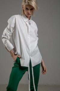 biala koszula delcane grunge TOKYO white przod detal 1m