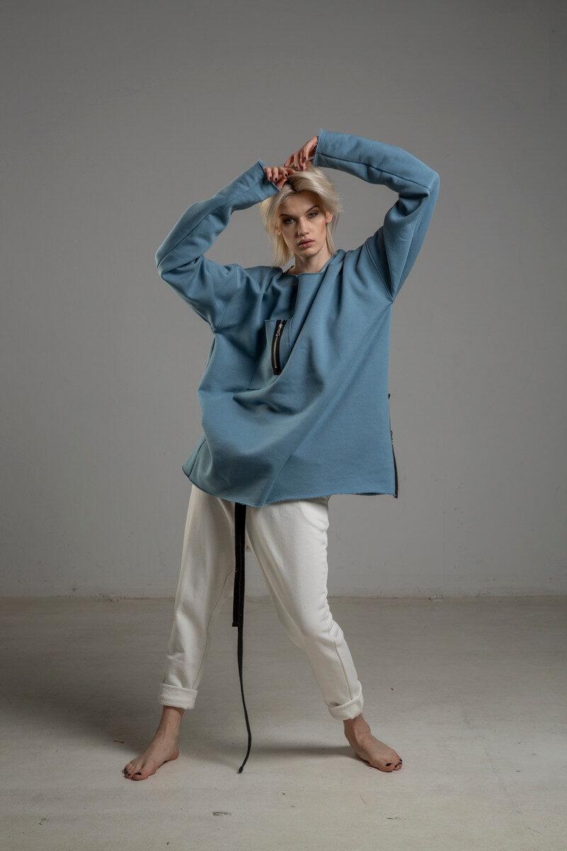biale spodnie delcane cotton TOKYO white przod 1m