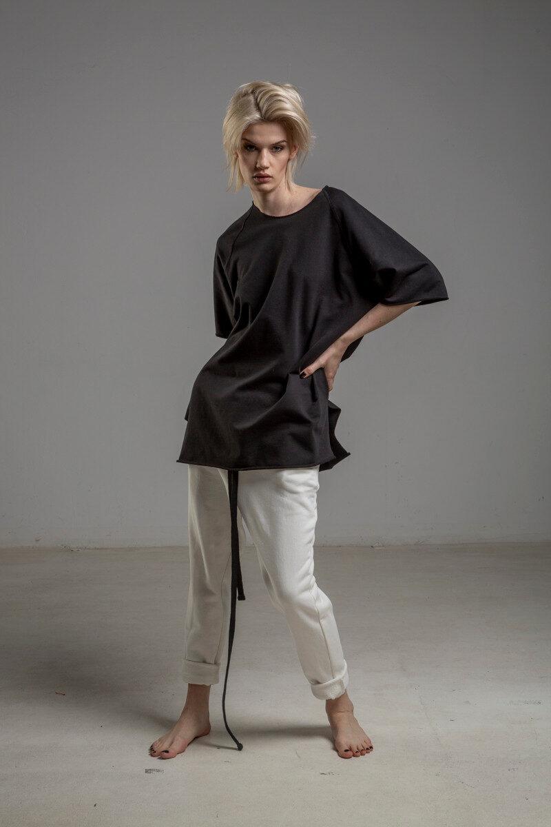 biale spodnie delcane cotton TOKYO white przod 5m