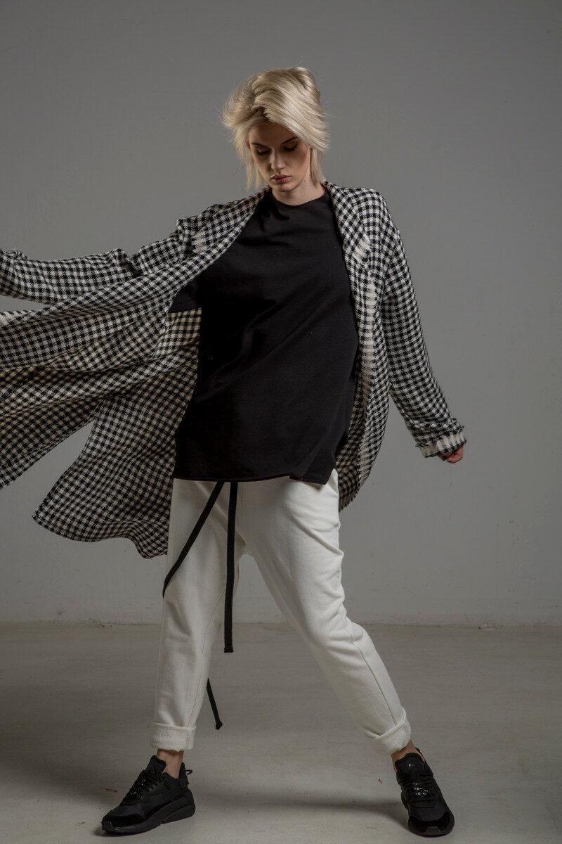 biale spodnie delcane cotton TOKYO white przod 6m