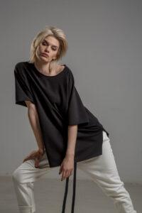 czarny tshirt delcane reglan Tokyo black przod 3m