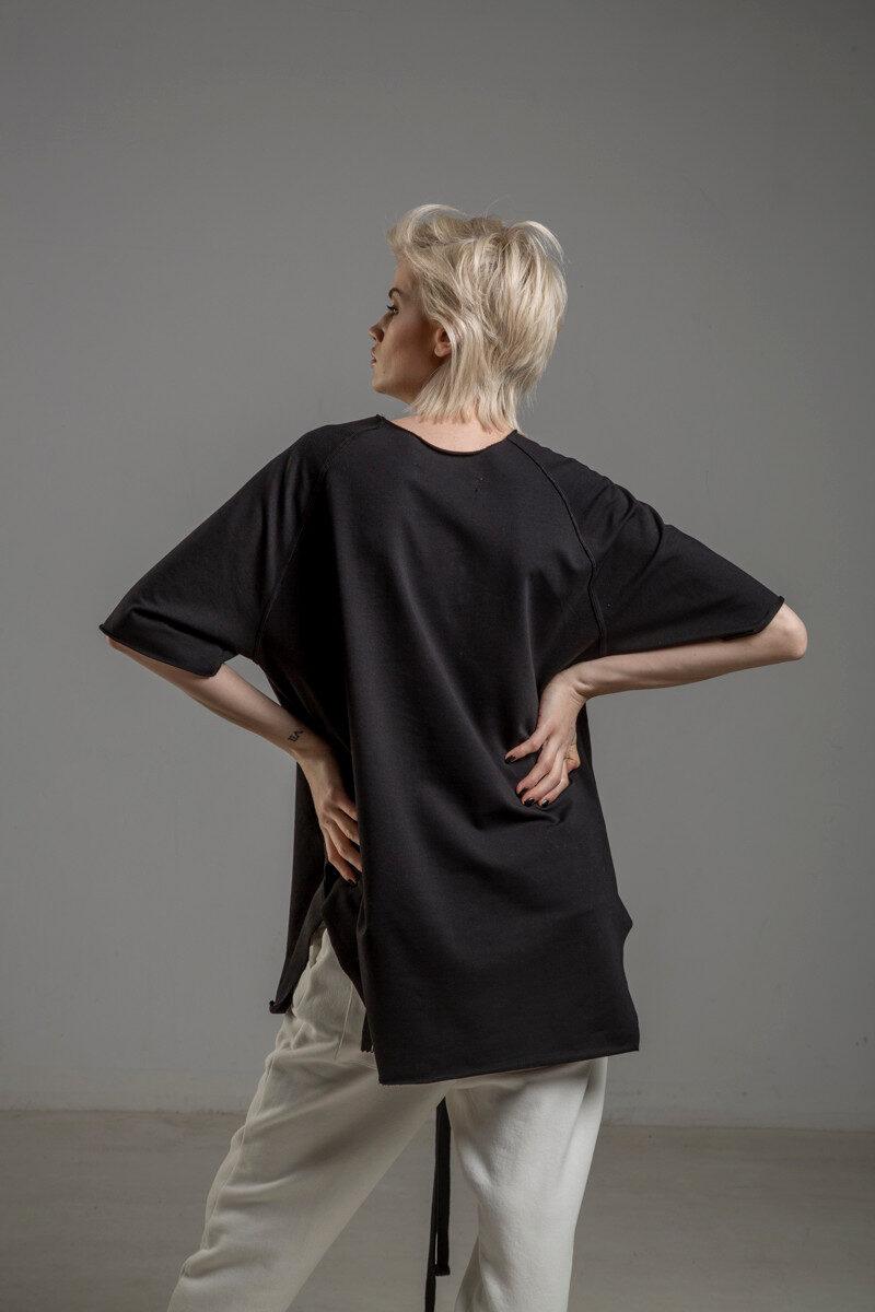 czarny tshirt delcane reglan Tokyo black tyl 2m