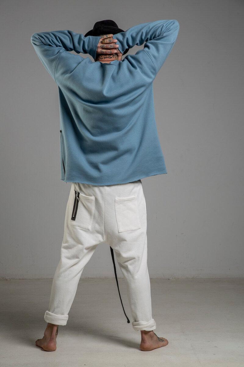 delCane niebieska bluza bawelniana przez glowe tyl2 m