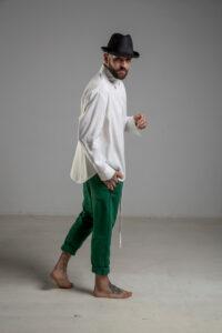 delcane biala koszula TOKYO havy white men prawy bok 1m