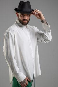 delcane biala koszula TOKYO havy white men prawy bok zblizenie 1m