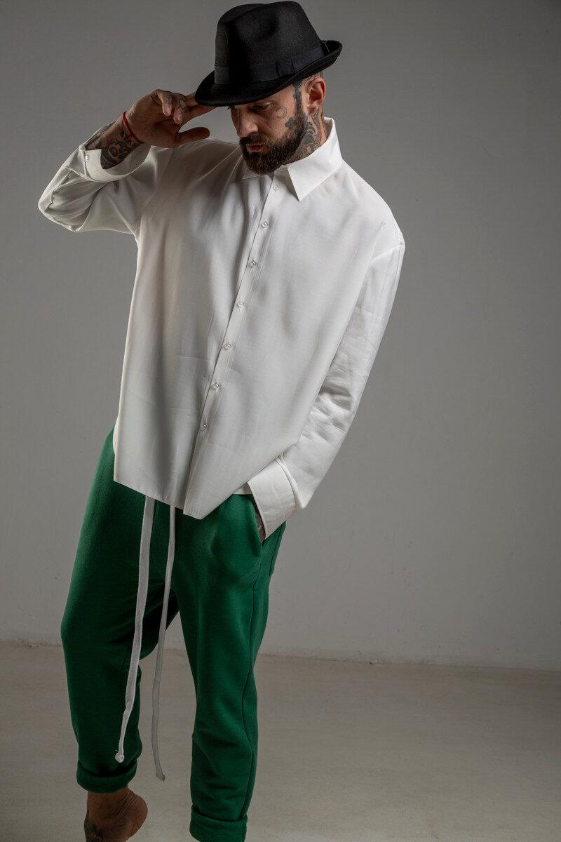 delcane biala koszula TOKYO havy white men prawy przod 1m