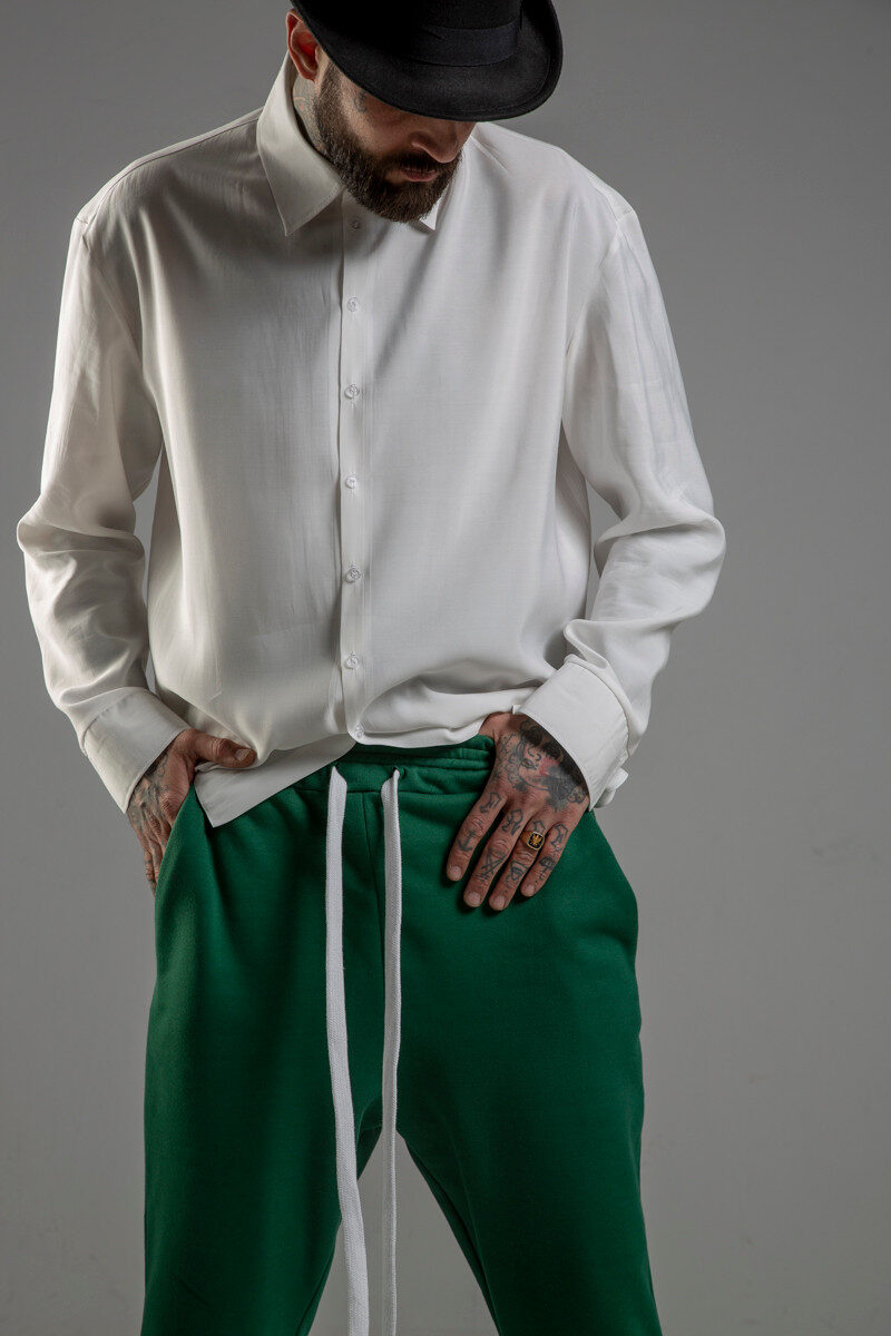 delcane biala koszula TOKYO havy white men przod 1m