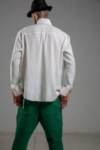 delcane biala koszula TOKYO havy white men tyl 1m