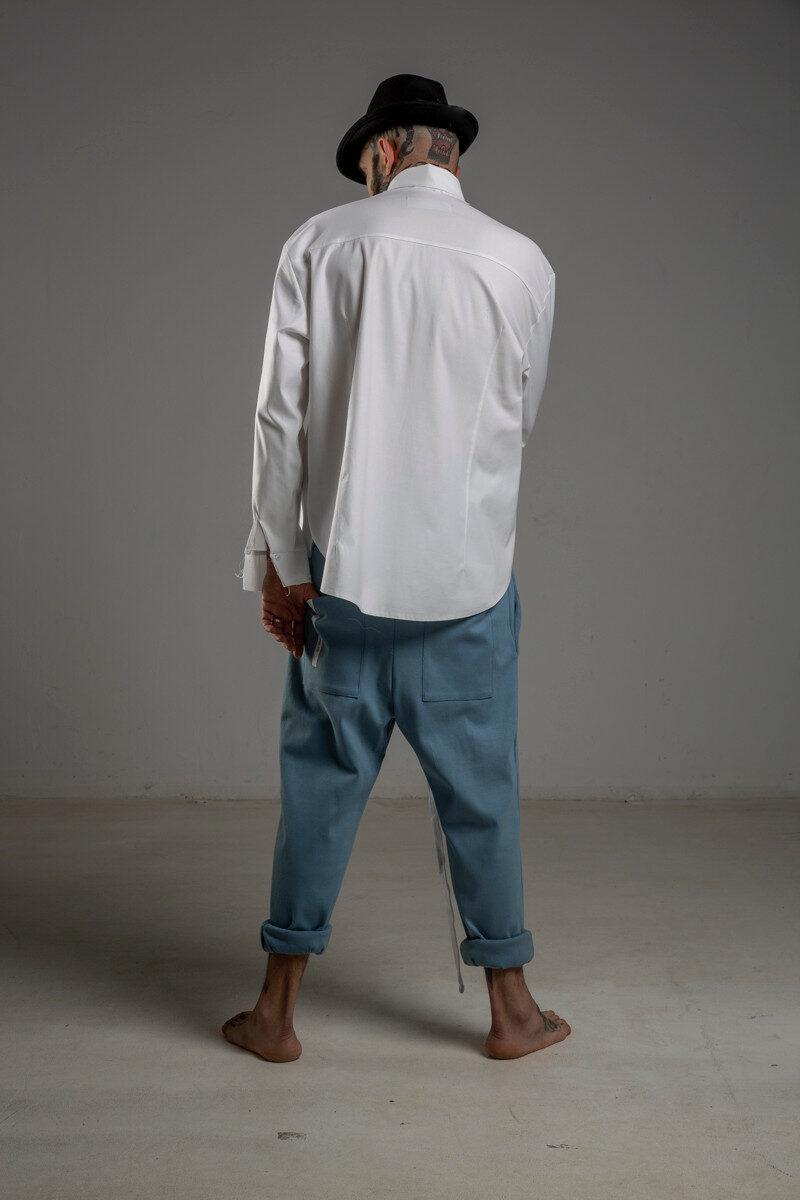delcane biała koszula TOKYO white men tyl 1m