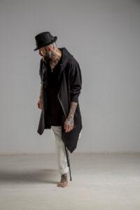 delcane bluza mus TOKYO black him przod 2m