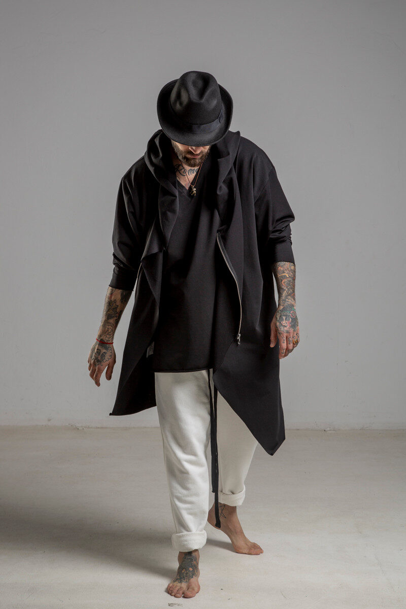 delcane bluza mus TOKYO black him przod 3m