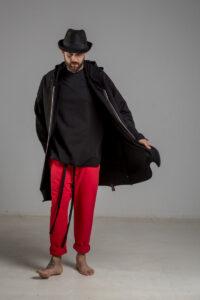 delcane bluza z kapturem czarna 80 TOKYO black him 1 przod m