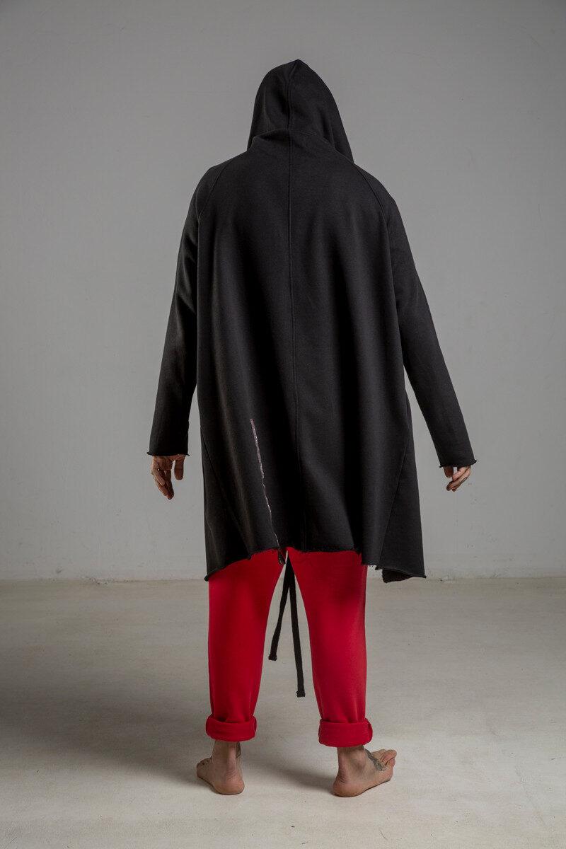 delcane bluza z kapturem czarna 80 TOKYO black him 2 tyl m