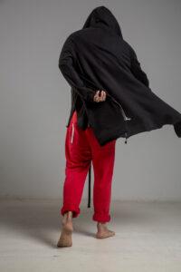 delcane bluza z kapturem czarna 80 TOKYO black him 3 tyl m