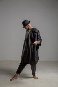 delcane kimono jedwabne TOKYO black him bok prawy 1m