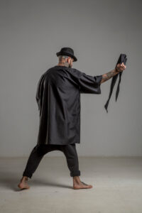 delcane kimono jedwabne TOKYO black him tyl 1m