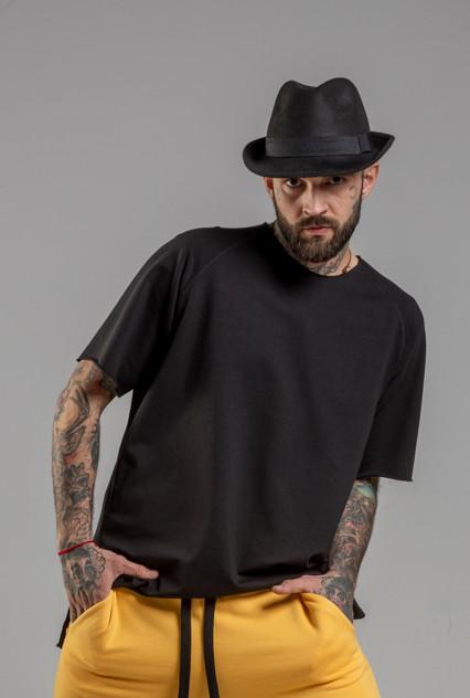 delcane tshirt tokyo black men przod 2m