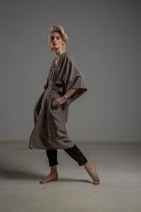 kimono lniane delCace bez Tokyo bok 2m