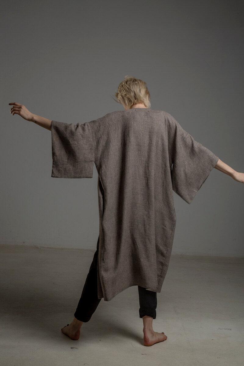kimono lniane delCace bez Tokyo tyl 1m