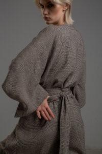 kimono lniane delCace bez Tokyo tyl 2m