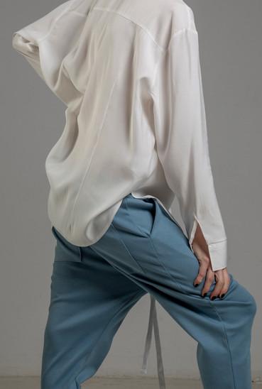spodnie delcane niebieskie TOKYO blue przod detal 1m
