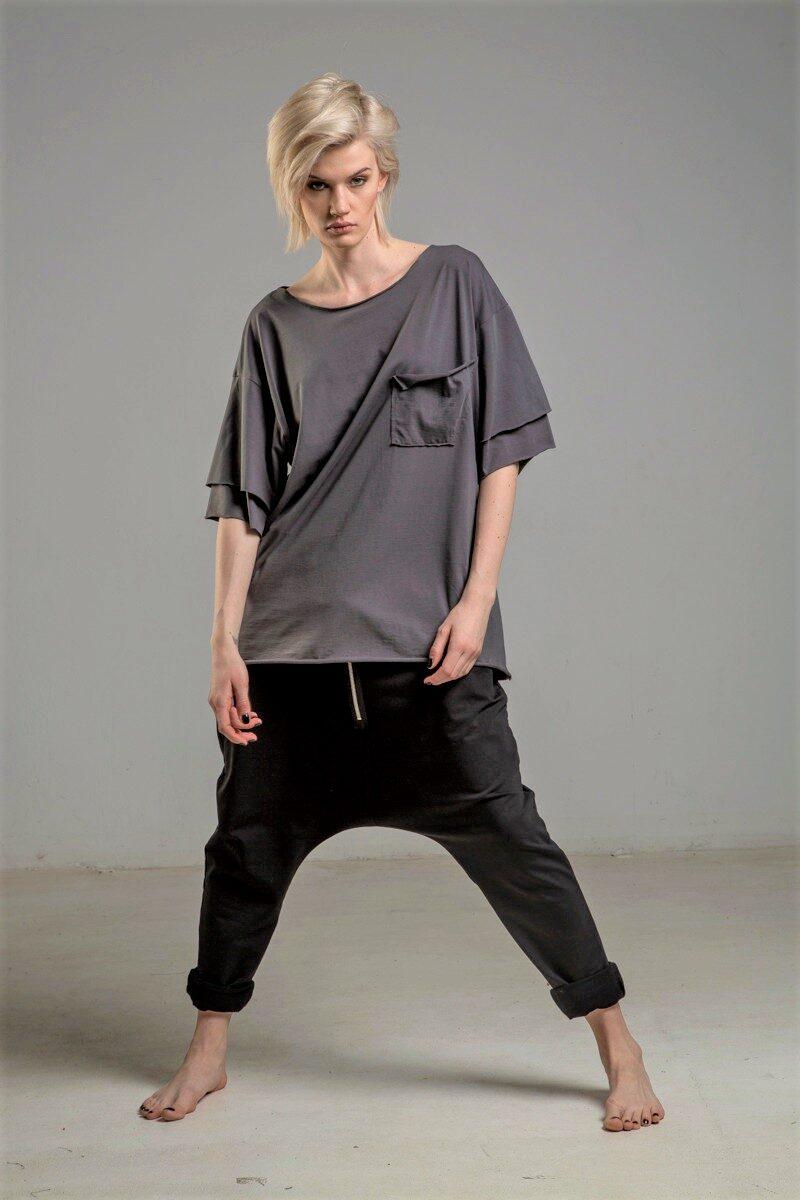 tshirt szary delcane TOKYO GRAY przod 2ma
